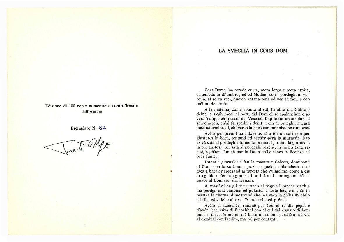 La sveglia in Cors Dom. IV° Raduno Commercianti di Corso Duomo Redù - 4 ottobre 1979. Serata dii gala in onore di Carlo Aquilini.