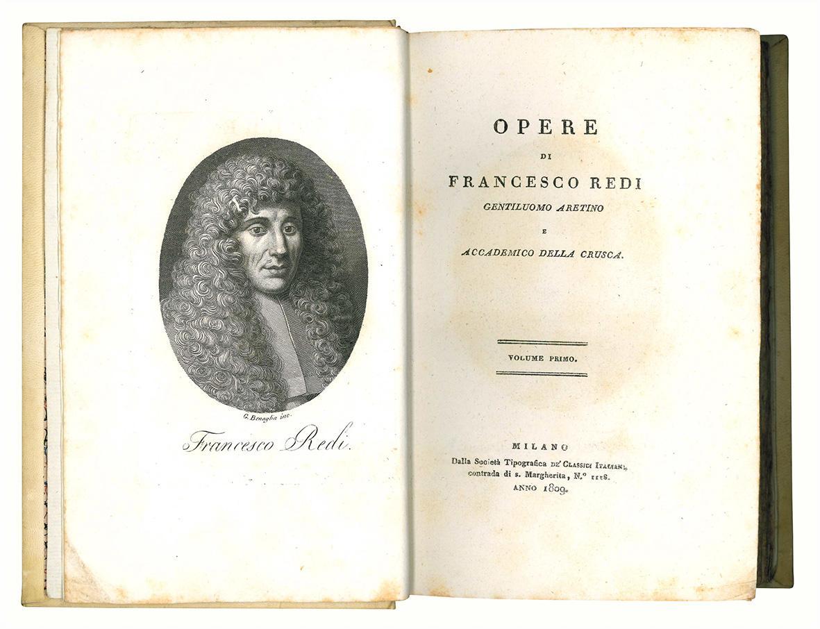 Opere di Francesco Redi gentiluomo aretino e accademico della Crusca. Volume primo (-nono).