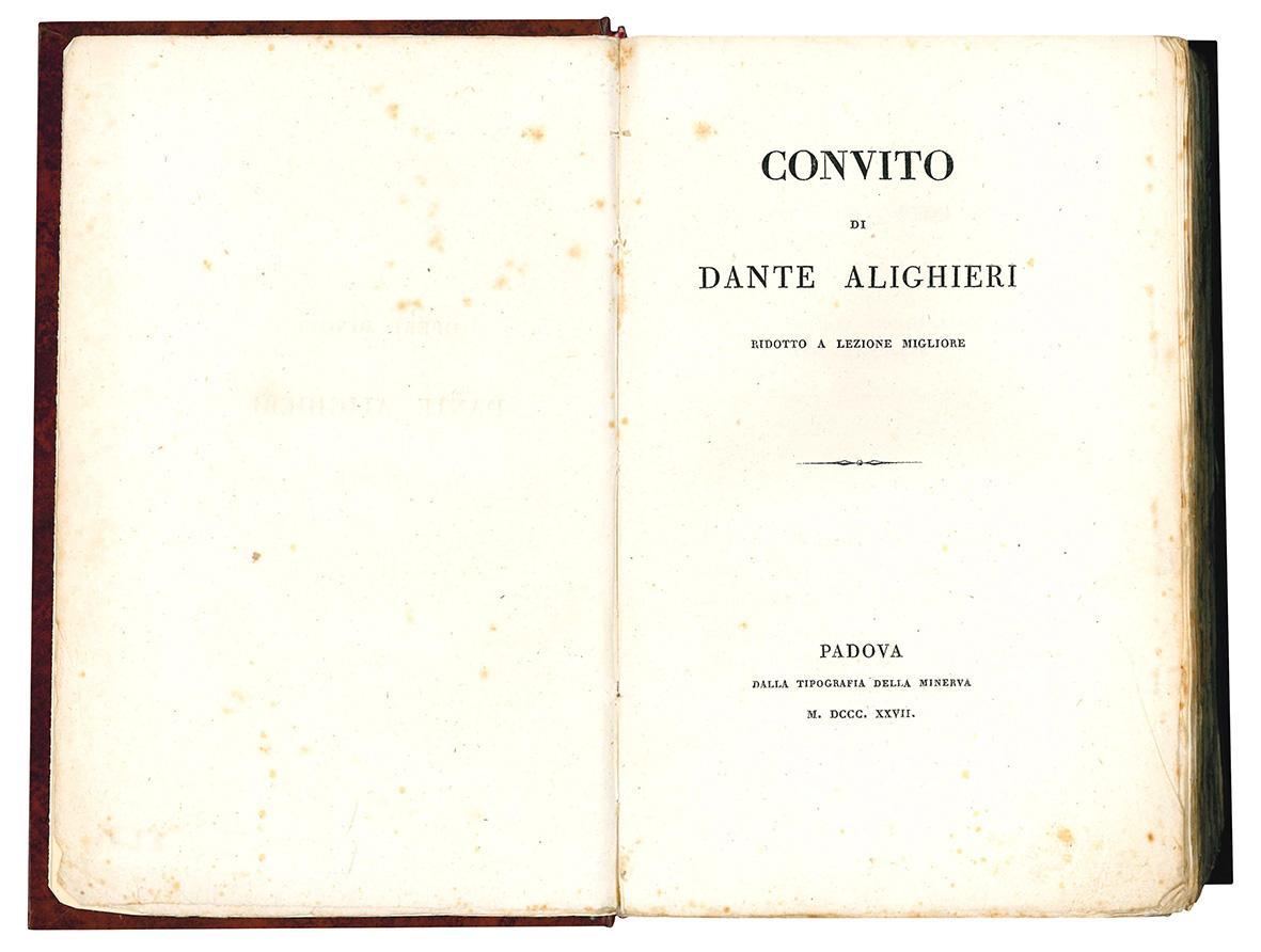 Convito di Dante Alighieri ridotto a lezione migliore.