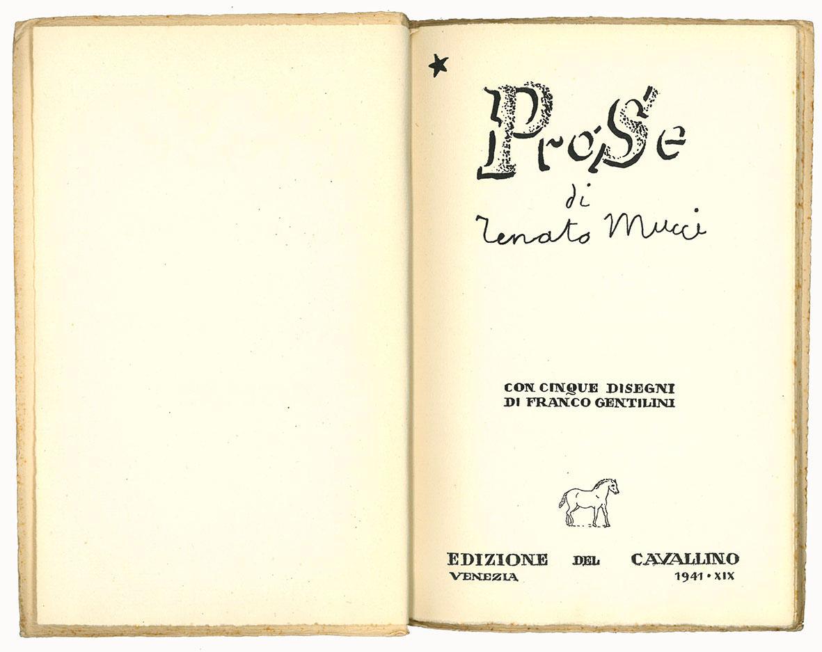 Prose di Renato Mucci con cinque disegni di Franco Gentilini