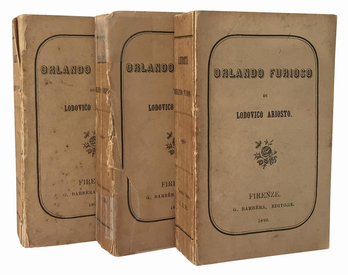 Orlando Furioso di Ludovico Ariosto. Volume primo (-terzo).