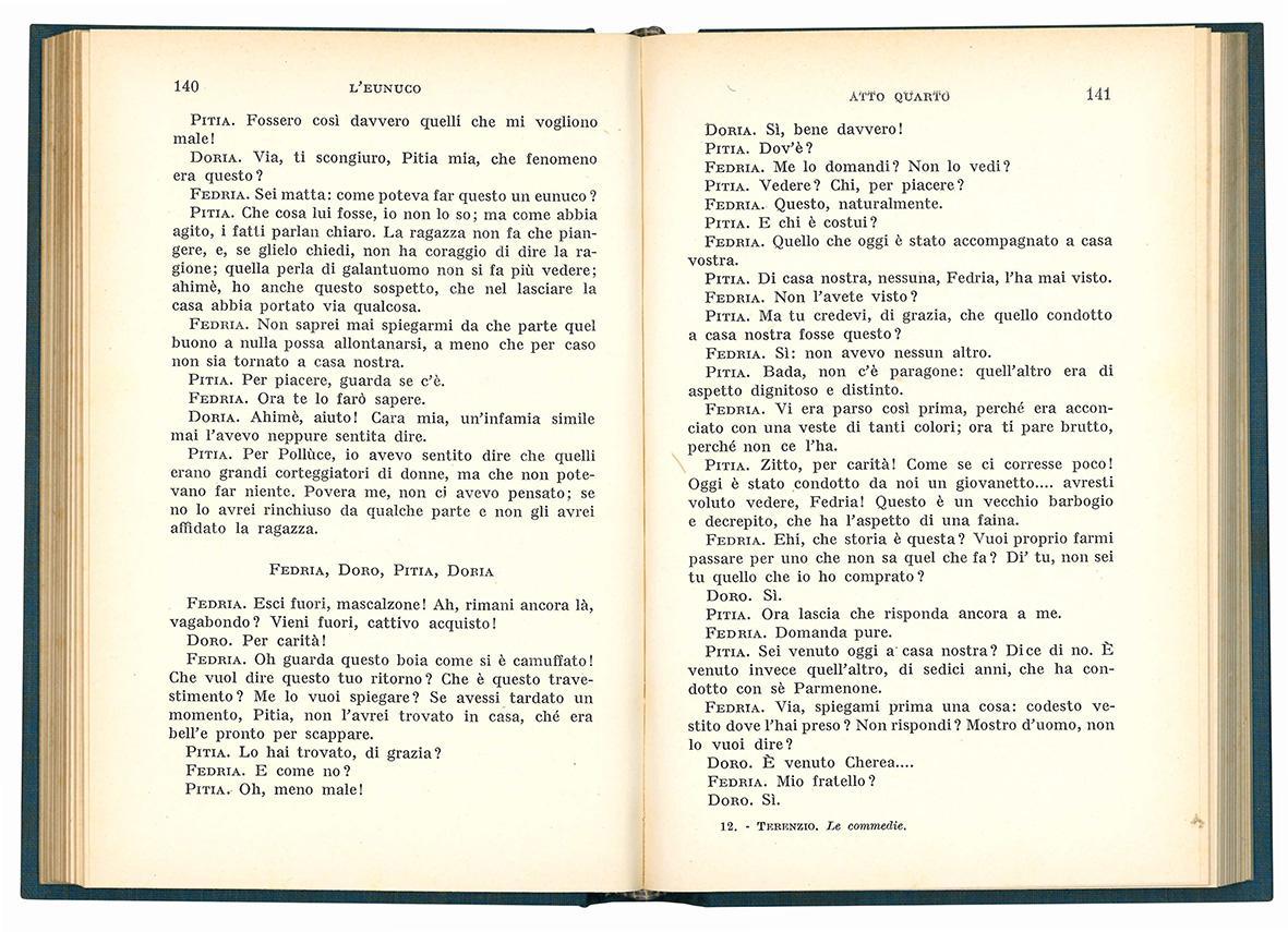 Le commedie. Introduzione e traduzione di Alessandro Ronconi.