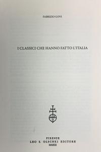 I Classici che hanno fatto l'Italia, articolo estratto da: Nuovi Annali della Scuola Speciale per Archivisti e Bibliotecari, Anno XXVI, 2012