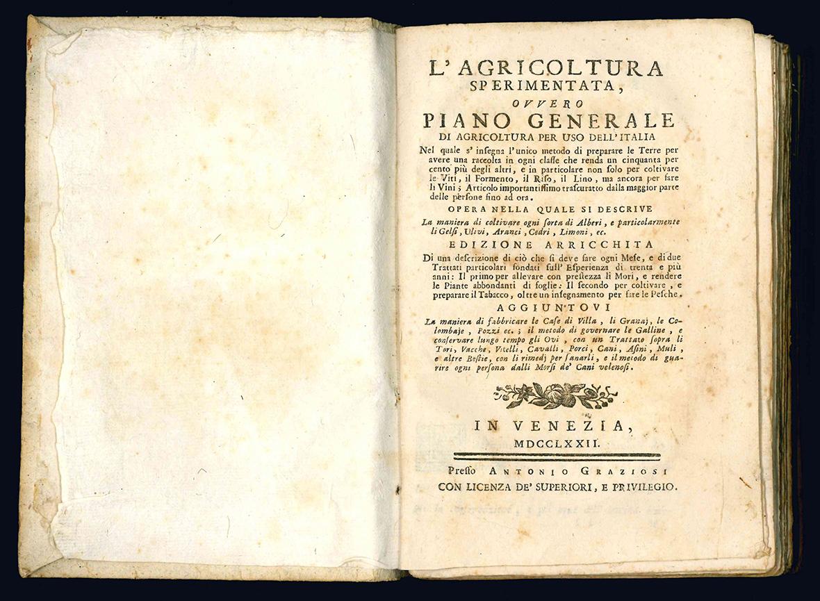 L' agricoltura sperimentata, ovvero Piano generale di agricoltura per uso dell'Italia.