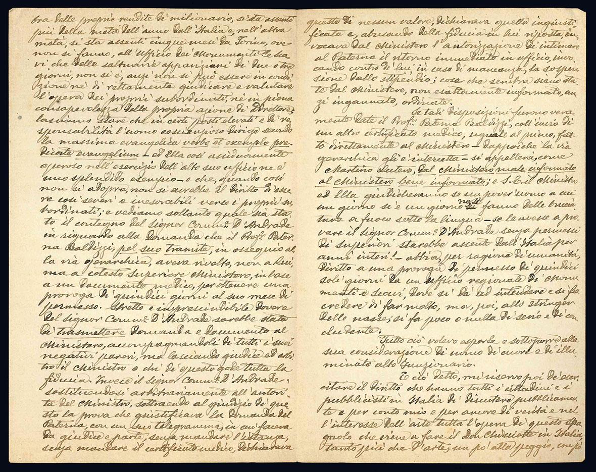 Lettera autografa. Monterotondo: 23 settembre 1904.