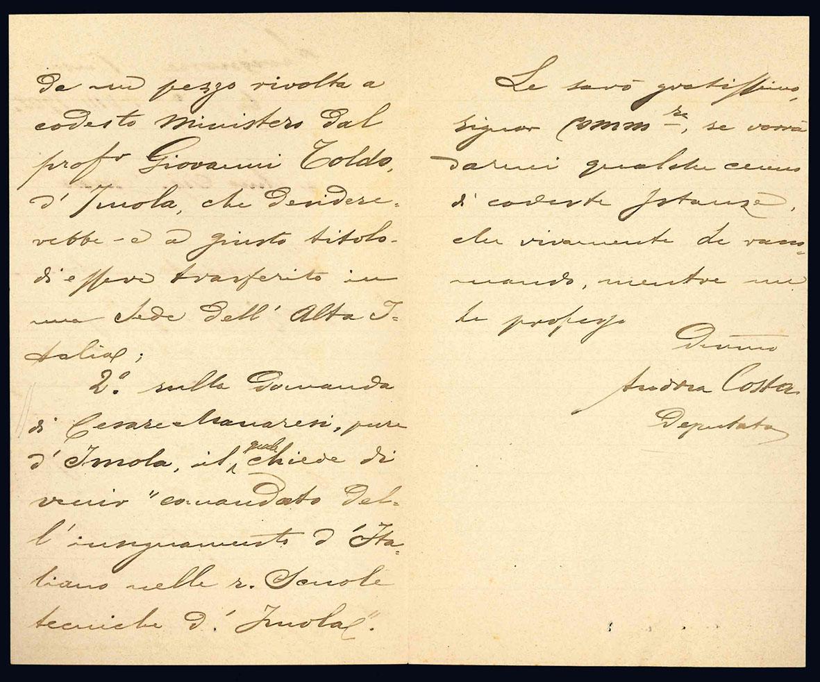 Lettera autografa. Savignone (Busalla): 27 agosto 1903.