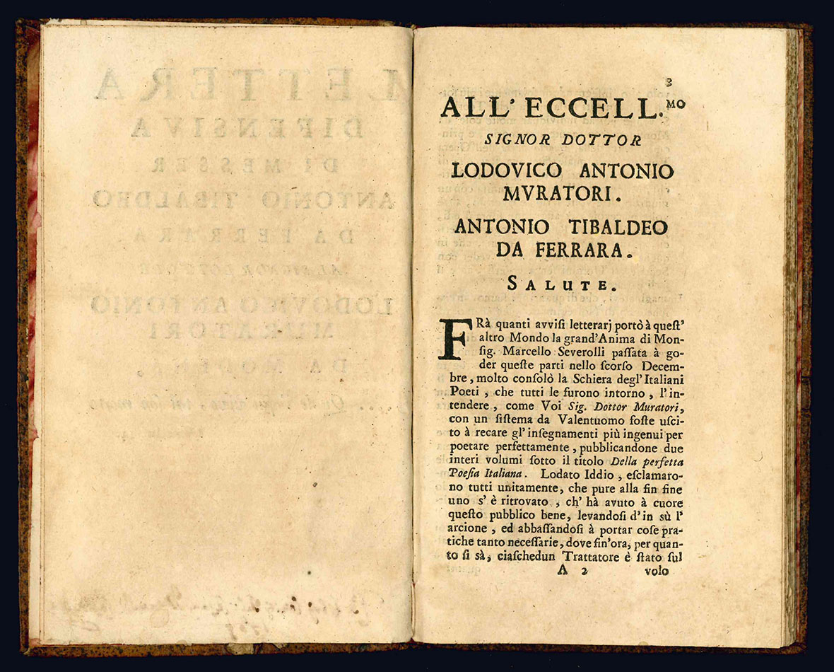 Lettera difensiva di messer Antonio Tibaldeo da Ferrara al signor dottore Lodovico Antonio Muratori
