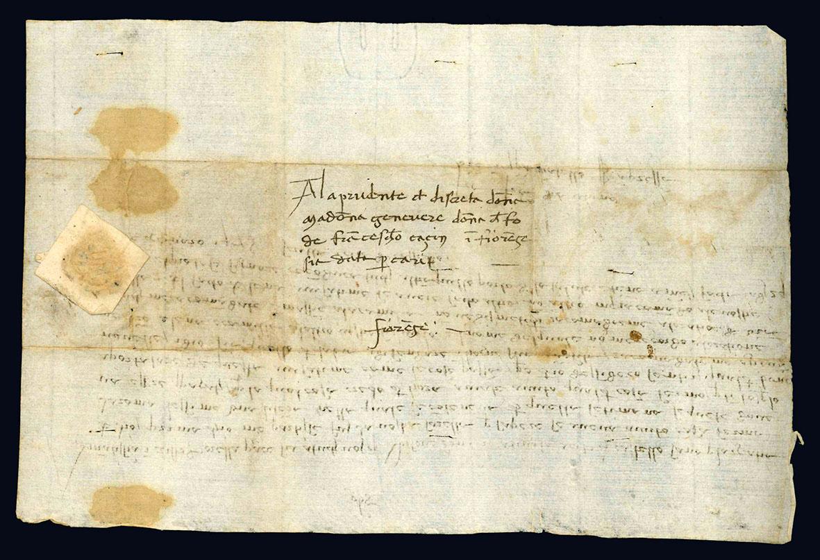 """Lettera inviata ad una non specificata """"Amatissima in Cristo sorella""""."""