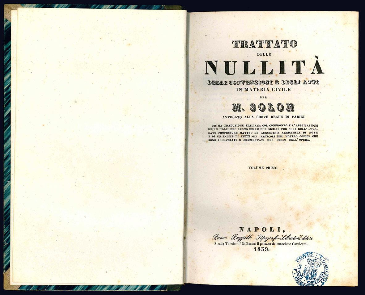 Trattato delle nullità.