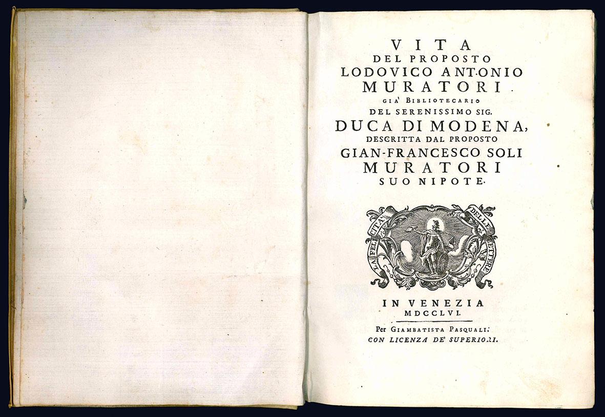 Vita del proposto Lodovico Antonio Muratori.